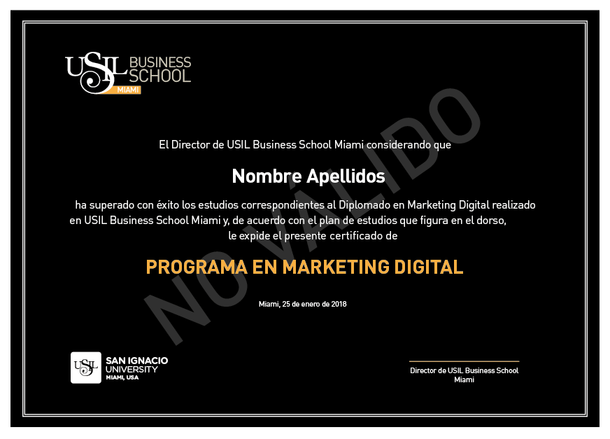 Diploma Curso de Marketing Digital