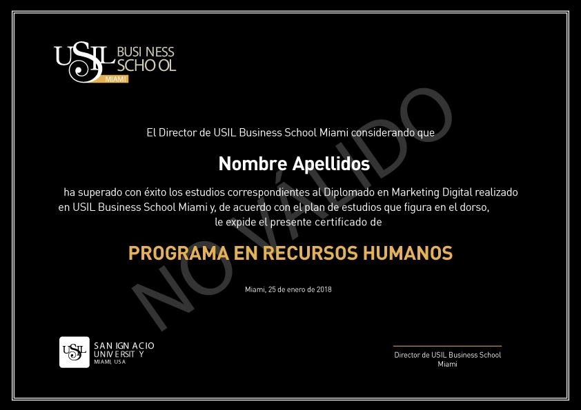 Diploma Curso de Recursos Humanos